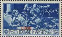 "[Italian Occupation- Italian Postage Stamps No. 308-312 Overprinted ""LISSO"", type I2]"