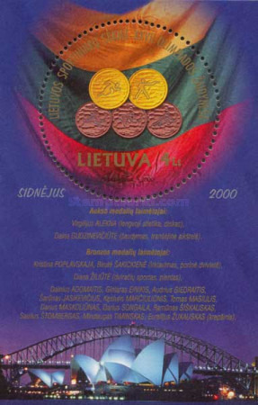 [Olympic Games - Sydney, Medals of Lithuanians, type ]