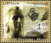 [The 300th Anniversary of the Birth of Kristijonas Donelaitis, 1714-1780, type ADR]