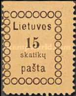 [Second Vilnius Printing - Thick Value Figures, type B1]