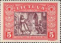 [Lietuvos vaikas - Lithuanian Child. Also as Imperforated with same price, type CG]