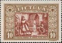 [Lietuvos vaikas - Lithuanian Child. Also as Imperforated with same price, type CG1]