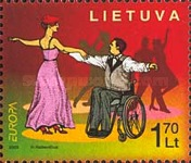 [EUROPA Stamps - Integration through the Eyes of Young People - Amusements and Sports of the Disabled, type UF]