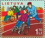 [EUROPA Stamps - Integration through the Eyes of Young People - Amusements and Sports of the Disabled, type UG]