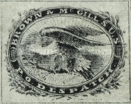 "[Inscription: ""BROWN'S & McGILL'S U.S. P.O.DISPATCH"", type B1]"