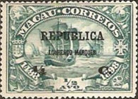 [Macau Postage Stamps Surcharged & Overprinted