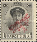 [Grand Duchess Charlotte & Landscapes - Postage Stamps of 1921-1922 Overprinted