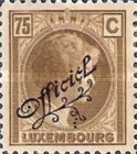 [Grand Duchess Charlotte - Postage Stamps of 1927 Overprinted