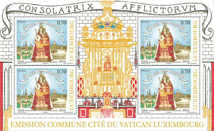 [The 350th Anniversary of the Election of Virgin Mary - Joint Issue with Vatican City, type ]