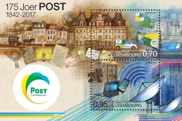 [The 175th Anniversary of Postal Service in Luxembourg, Typ ]