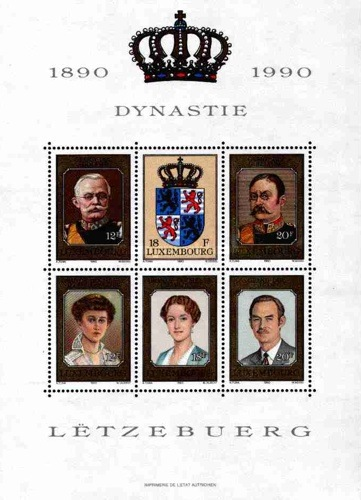 [The 100th Anniversary of the Nassau-Weilburg Dynasty, Typ AIE]