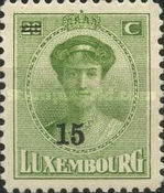 [Grand Duchess Charlotte - Surcharged, type AL]