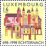 [The 1300th Anniversary of the Echternacht Abbey, type APU]