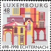 [The 1300th Anniversary of the Echternacht Abbey, type APV]
