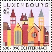 [The 1300th Anniversary of the Echternacht Abbey, type APW]