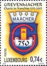 [The 750th Anniversary of Grevenmacher's Charter of Freedom, type BBE]