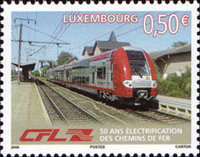 [The 50th Anniversary of Electrification of the Luxembourg Railway Network, type BFQ]