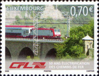 [The 50th Anniversary of Electrification of the Luxembourg Railway Network, type BFR]