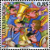 [EUROPA Stamps - Musical Instruments, type BQX]