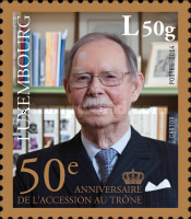 [The 50th Anniversary of the Accession to the Throne of H.R.H Grand Duke Jean, type BRK]