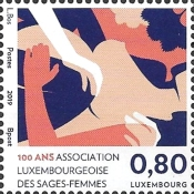 [The 100th Anniversary of the Luxembourg Association of Midwives, type BYK]