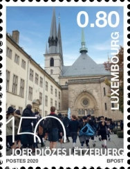 [The 150th Anniversary of the Diocese of Luxembourg, type BZN]