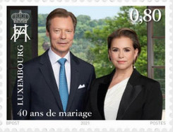 [The 40th Wedding Anniversary of the Grand Duke and Duchess, type CAU]