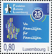 [The 25th Anniversary of the Foundation Autism Luxembourg, type CAX]
