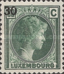 [Grand Dutchess Charlotte - Surcharged, type CT]