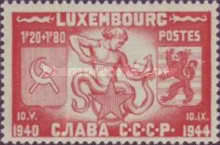 [Freedom in Luxembourg - Symbols of the Four Countries of the Allied Forces, Typ DC]