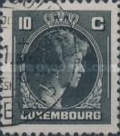 [Grand Duchess Charlotte - Charity Stamps for the Evacuated - Sold as canceled Only in Numbered Folders, Typ DG24]