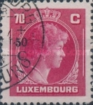 [Grand Duchess Charlotte - Charity Stamps for the Evacuated - Sold as canceled Only in Numbered Folders, Typ DG28]