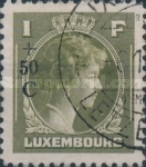 [Grand Duchess Charlotte - Charity Stamps for the Evacuated - Sold as canceled Only in Numbered Folders, Typ DG29]