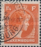 [Grand Duchess Charlotte - Charity Stamps for the Evacuated - Sold as canceled Only in Numbered Folders, Typ DG30]