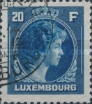 [Grand Duchess Charlotte - Charity Stamps for the Evacuated - Sold as canceled Only in Numbered Folders, Typ DG34]