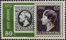 [Airmail - The 100th Anniversary of Luxembourg`s Stamps, Typ FN]