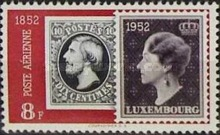 [Airmail - The 100th Anniversary of Luxembourg`s Stamps, Typ FN3]