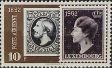 [Airmail - The 100th Anniversary of Luxembourg`s Stamps, Typ FN4]