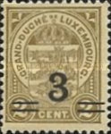 [Stamps of 1906-19 Surcharged with New Value and Bars in Black or Red, Typ M1]