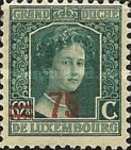 [Stamps of 1906-19 Surcharged with New Value and Bars in Black or Red, Typ M10]