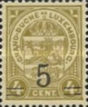[Stamps of 1906-19 Surcharged with New Value and Bars in Black or Red, Typ M3]