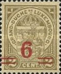 [Stamps of 1906-19 Surcharged with New Value and Bars in Black or Red, Typ M5]