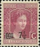 [Stamps of 1906-19 Surcharged with New Value and Bars in Black or Red, Typ M6]