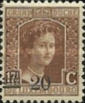 [Stamps of 1906-19 Surcharged with New Value and Bars in Black or Red, Typ M8]