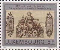 [The 125th Anniversary of Issuing Rights by the International Bank in Luxembourg, Typ ZO]