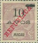 [King Carlos I of Portugal - No. 135 Surcharged, Typ AD]