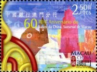 [The 60th Anniversary of the Bank of China's Macao Branch, Typ AXY]