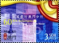 [The 60th Anniversary of the Bank of China's Macao Branch, Typ AXZ]