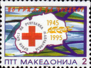 [The 50th Anniversary of Red Cross in Macedonia, type AM]