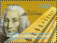 [The 275th Anniversary of the Death of Anders Celsius, 1701-1744, type CDG]